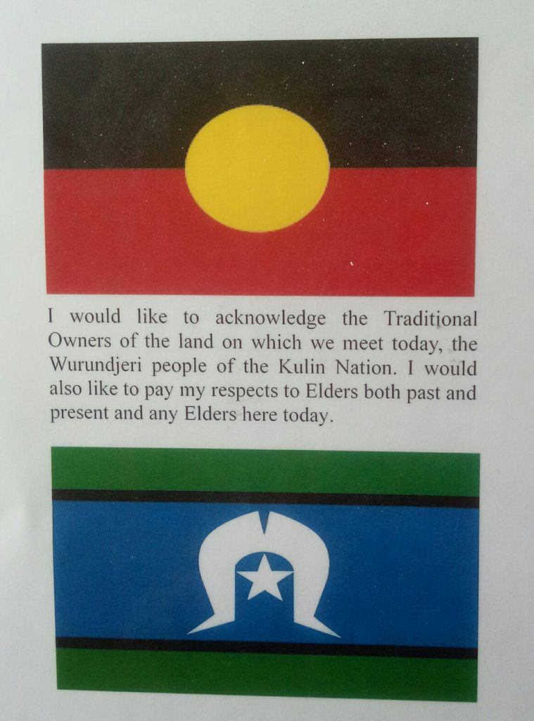 An aboriginal flag - flag of the traditional owners of the land of Australia